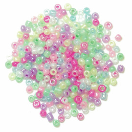 Seed Beads Pastel Multi 15g by Trimits
