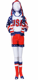 Sporty Stars & Stripes Couture Outfit Making Set by Vervaco
