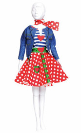 Lucy Polka Dots Couture Outfit Making Set by Vervaco