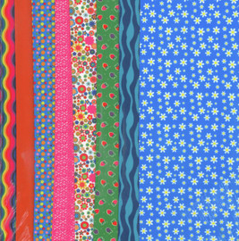 Blue Daisy Making Couture Fabric Set by Vervaco