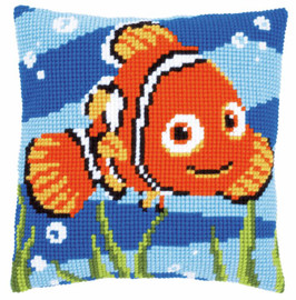 Nemo Disney Cross Stitch Cushion Kit by Vervaco