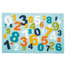 Numbers Rug Cross Stitch Kit by Vervaco