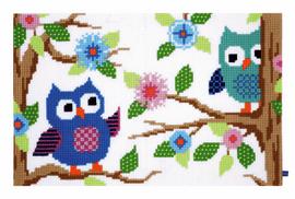 Owl Talk Rug Cross Stitch Kit by Vervaco
