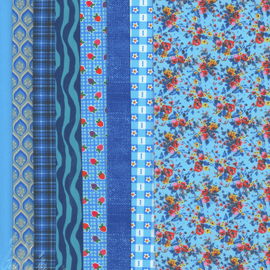 Making Couture Fabric Set: Blues By Vervaco