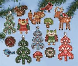 Woodland Christmas Tree Ornaments Kit By Design Works