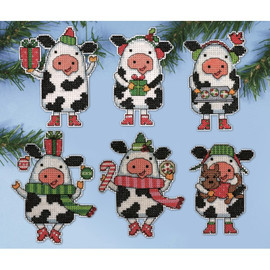 Christmas Cow Tree Ornaments Kit By Design Works