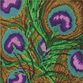 Peacock Feathers Tapestry Kit By Design Works