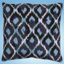 Blue Ikat Tapestry Kit By Design Works