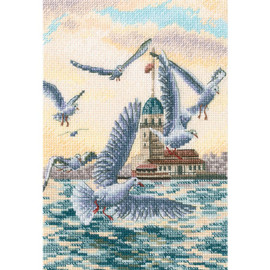 With the flavour of Salt,Wind and Sun   RTO Counted Cross Stitch Kit Seagulls