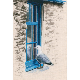 With the Flavours of Salt, Wind And Sun Seagull RTO Counted Cross Stitch Kit