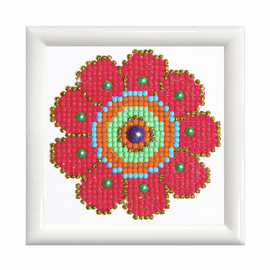 Diamond Painting Flower Power Kit with Frame by Diamond Dotz