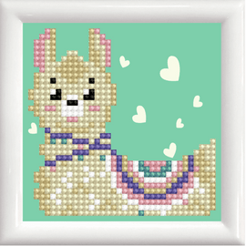 Diamond Painting Llama Heart Kit with Frame by Diamond Dotz