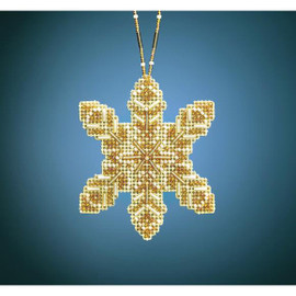 Pearl Snowflake Beading Kit Ornament by Mill Hill