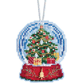 Christmas Tree Globe Cross Stitch and Beading Kit by Mill Hill