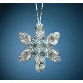 Opal Ice Snowflake beading kit by Mill Hill