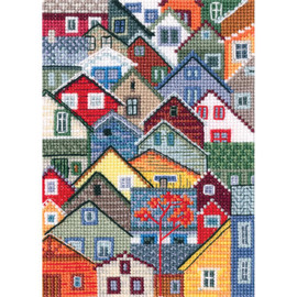 Houses with a Flavour of salt, wind and sun cross Stitch Kit by RTO