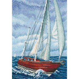 Ship of Flavour of salt , wind and sun Cross Stitch Kit by RTO