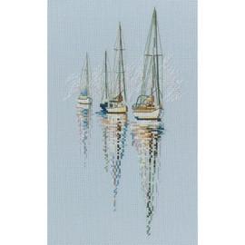 Three Boats Cross Stitch Kit by RTO