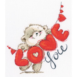 I Love You Counted cross stitch kit by RTO