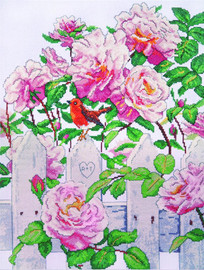 Roses in Provence Counted Cross Stitch Kit By Design Works