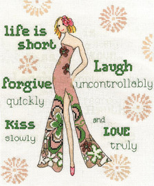 Life is Short Counted Cross Stitch Kit By Design Works