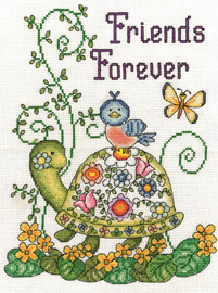 Friends Forever Counted Cross Stitch Kit By Design Works