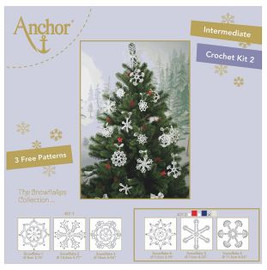 Crochet Kit: Snowflakes 2: White/Gold by Anchor