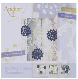 Crochet Kit: Christmas Star Garland: White & Blue by Anchor