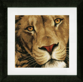 King of Animals Aida Counted Cross Stitch Kit by Lanarte