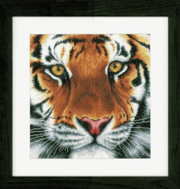 Tiger Aida Counted Cross Stitch Kit by Lanarte