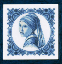 Girl with a Pearl Counted Cross Stitch Kit by Lanarte