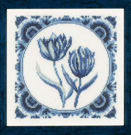 Delft Tulips Counted Cross Stitch Kit by Lanarte
