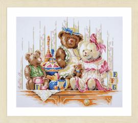 Bears and Toys Diamond Painting Kit by Lanarte