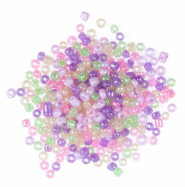 Extra Value Seed Beads Pastel Multi 30g by Trimits