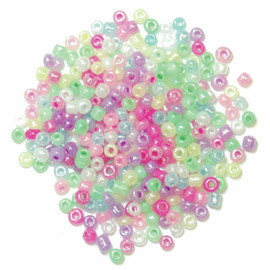 Extra Value Seed Beads Assorted Pastel 30g by Trimits