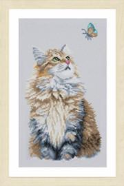 Forest Cat Diamond Painting Kit by Lanarte