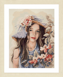 Little Girl with Hat Diamond Painting Kit by Lanarte