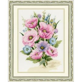 Garden Poppies Cross Stitch Kit by Golden Fleece