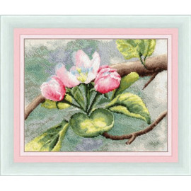Apple Tree Blossom Cross Stitch Kit by Golden Fleece