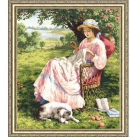 Apple Tree Garden Cross Stitch Kit by Golden Fleece