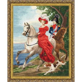 Date With Gallant Cross Stitch Kit by Golden Fleece