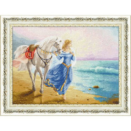 Dawn At The Sea Cross Stitch Kit by Golden Fleece