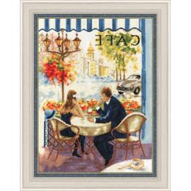 Date In Paris Cross Stitch Kit by Golden Fleece