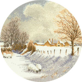 Winter sheep Counted cross stitch kit by Heritage Crafts