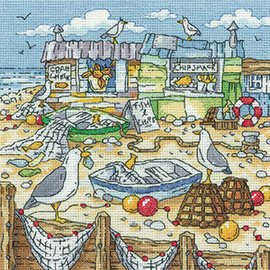 Chip Shack counted cross stitch kit by Heritage crafts