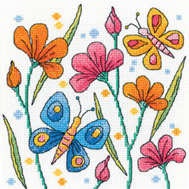 Blue Butterfly Counted cross stitch kit by Heritage crafts