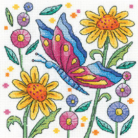 Red Butterfly Counted Cross stitch kit by Heritage Crafts