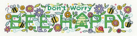 BEE Happy Counted cross stitch kit by Heritage Crafts