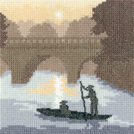 On The River  Counted Cross stitch Kit by Heritage Crafts