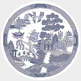 The Willow Pattern Counted cross stitch Kit by Heritage Crafts